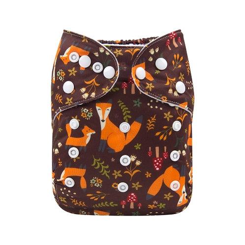 ALVA OS Pocket Diaper - Brown Fox