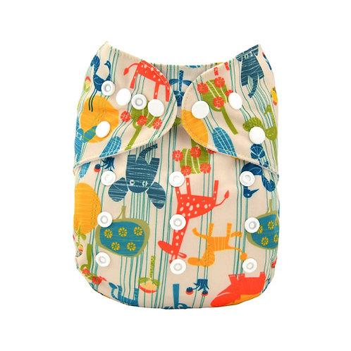 ALVA OS Pocket Diaper - Safari Sunday
