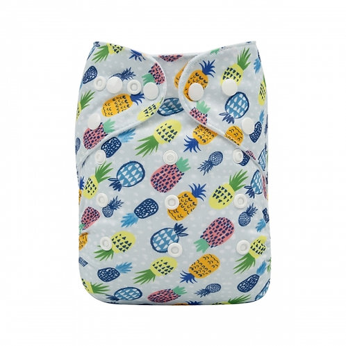 ALVA OS Pocket Diaper - Pineapple Art