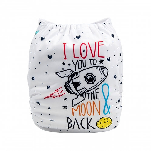 ALVA OS Pocket Diaper - I Love You to the Moon and Back