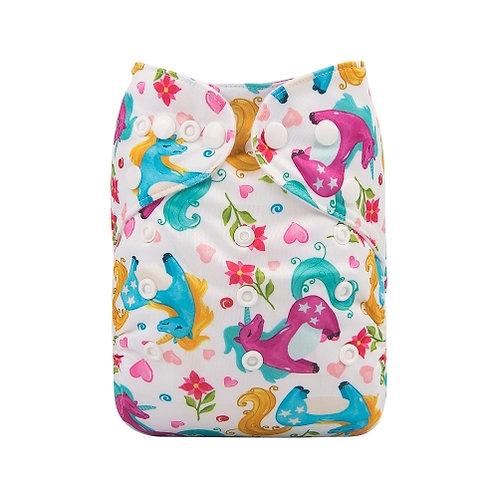 ALVA OS Pocket Diaper - Rainbow Unicorn