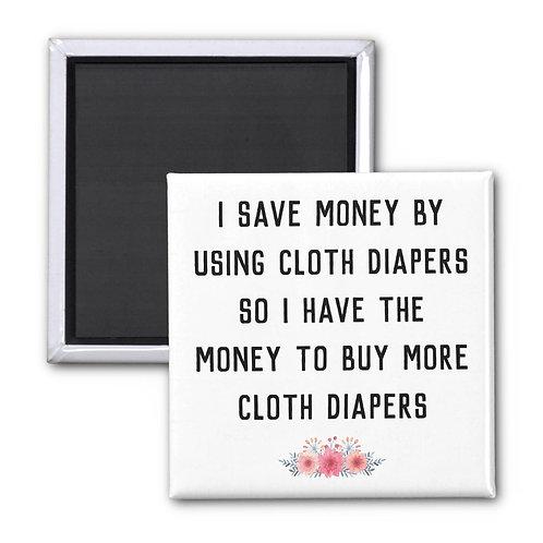"""Cloth Diaper Logic"" Square Magnet"