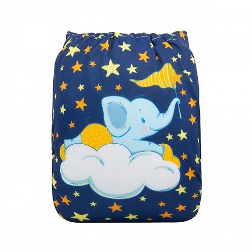 ALVA OS Pocket Diaper - Night Night Elephant