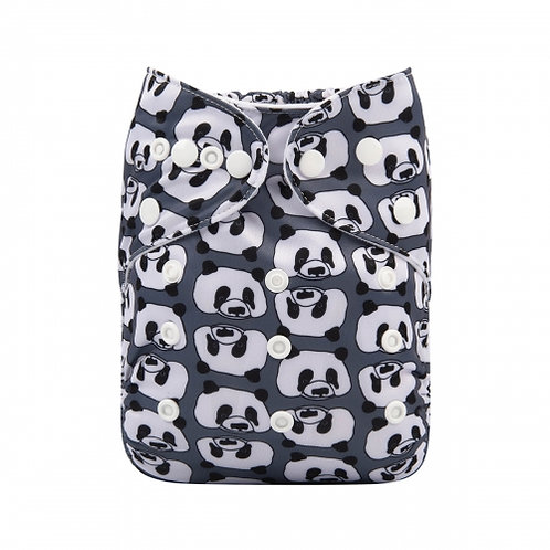 ALVA OS Pocket Diaper - Black Panda