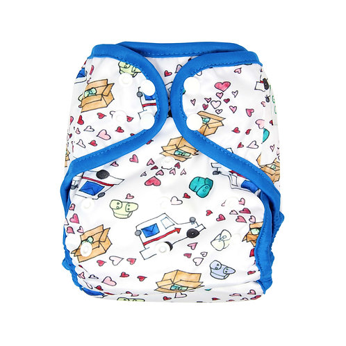 """Greener Odyssey OS Diaper Cover """"Fluff Mail"""""""