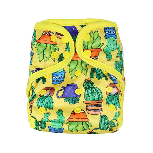 """Greener Odyssey OS Diaper Cover """"Potted Succulents"""""""
