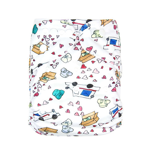 "Greener Odyssey OS Pocket Diaper ""Fluff Mail"""