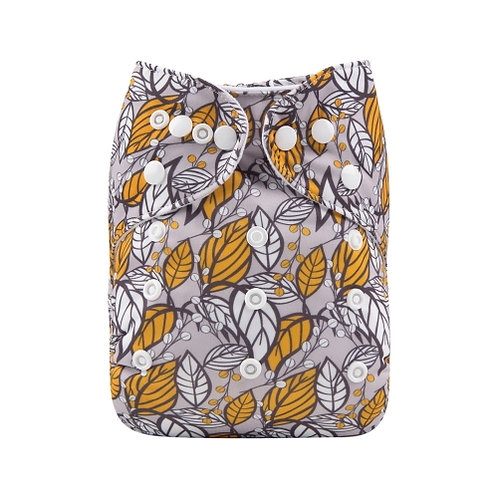 ALVA OS Pocket Diaper - Leaves