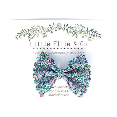 Glitter Bow - Confetti Mermaid