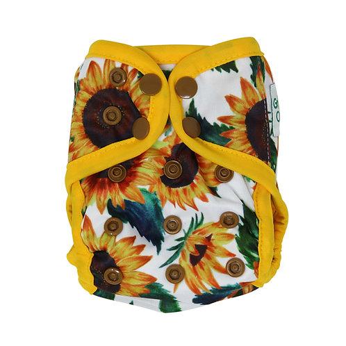 "Greener Odyssey NB Diaper Cover ""Sunflora"""
