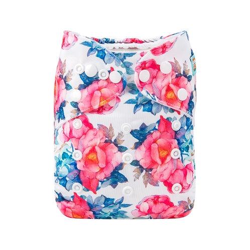ALVA OS Pocket Diaper - Pink Flowers