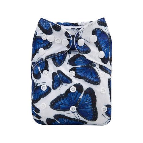 ALVA OS Pocket Diaper - Blue Butterflies