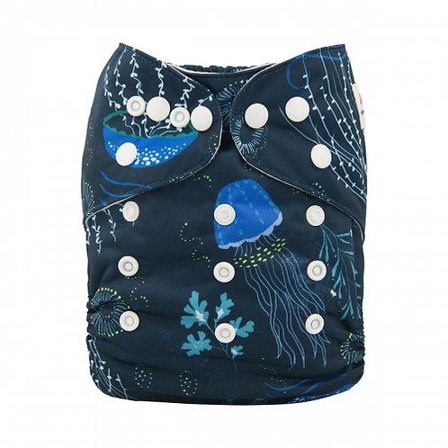 ALVA OS Pocket Diaper - Blue Jellyfish