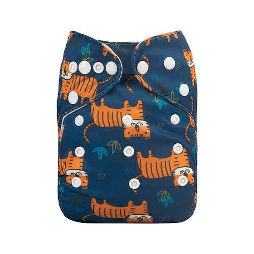 ALVA OS Pocket Diaper - Baby Tigers