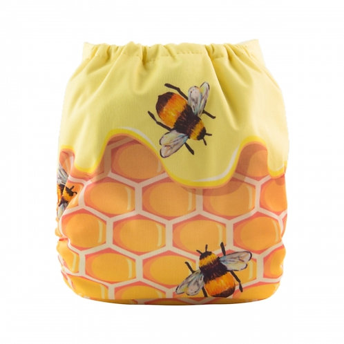ALVA OS Pocket Diaper - Bee Honeycomb
