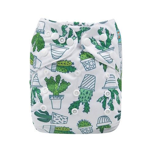 ALVA OS Pocket Diaper - Green Succulents