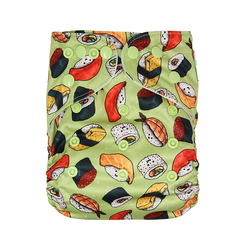 "Greener Odyssey OS Pocket Diaper ""Kawaii Sushi"""