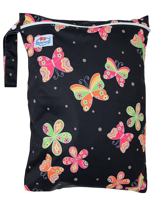Babyland Small Wet Bag - Black Butterflies