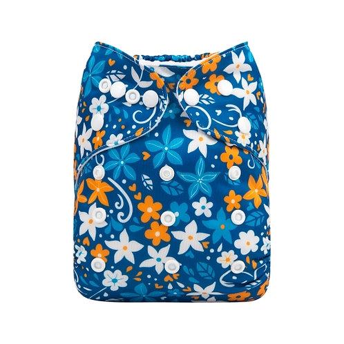 ALVA OS Pocket Diaper - Sapphire Flowers