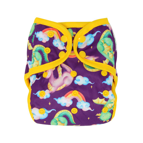 "Greener Odyssey OS Diaper Cover ""Dragon Dance"""