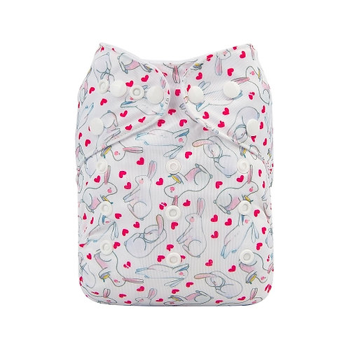 ALVA OS Pocket Diaper - Bunny Love