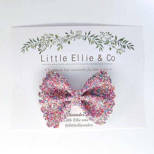 Glitter Bow - Confetti