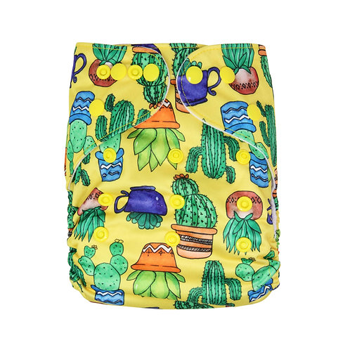 "Greener Odyssey OS Pocket Diaper ""Potted Succulents"""