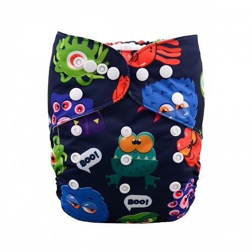 ALVA OS Pocket Diaper - Monsters