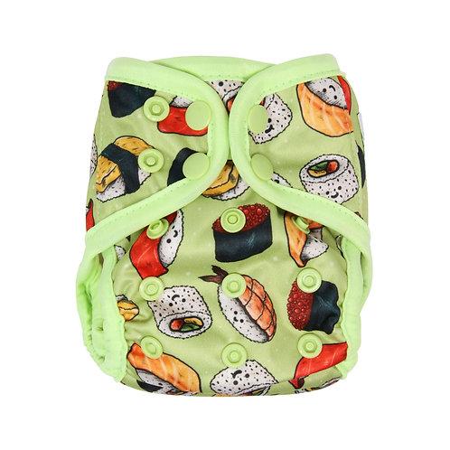 """Greener Odyssey NB Diaper Cover """"Kawaii Sushi"""""""
