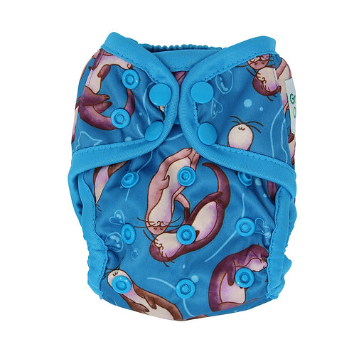 """Greener Odyssey NB Diaper Cover """"Significant Otter"""""""