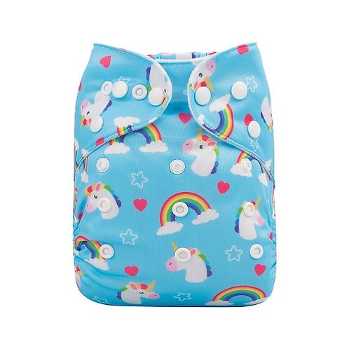 ALVA OS Pocket Diaper - Blue Unicorn
