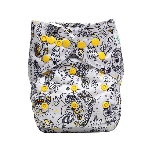 """Greener Odyssey OS Pocket Diaper """"A Touch of Wilderness"""""""