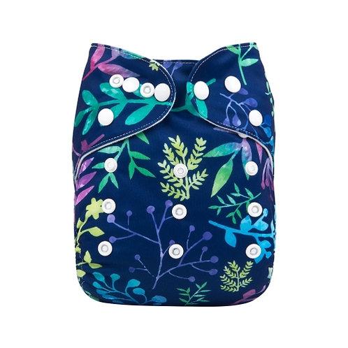 ALVA OS Pocket Diaper - Foliage