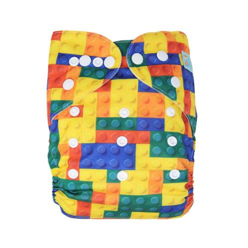 ALVA OS Pocket Diaper - Building Blocks