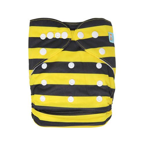 ALVA OS Pocket Diaper - Bee Stripes