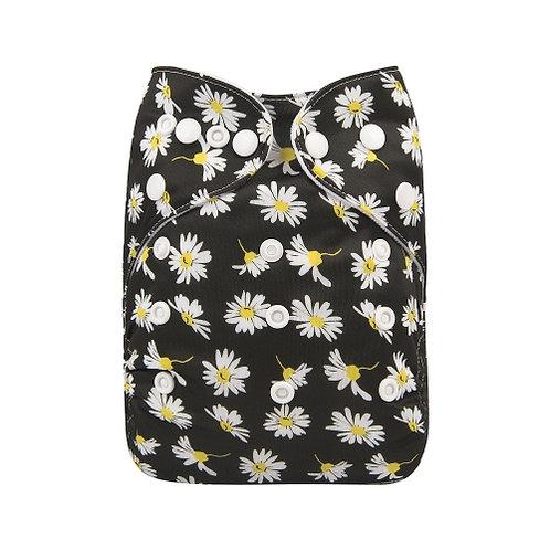 ALVA OS Pocket Diaper - Black Daisy