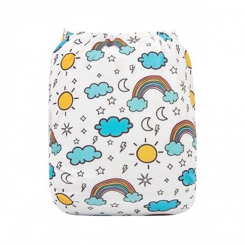 ALVA OS Pocket Diaper - Sunshine and Rainbows