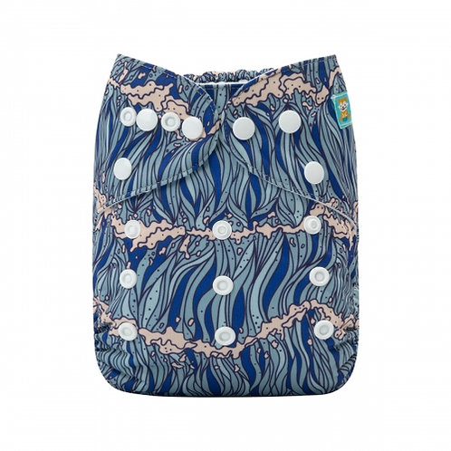 ALVA OS Pocket Diaper - Waves