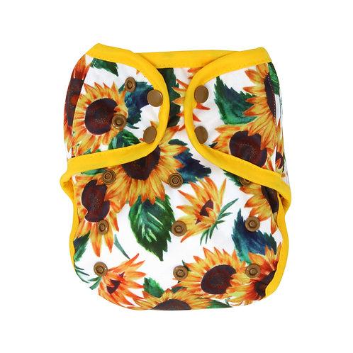 "Greener Odyssey OS Diaper Cover ""Sunflora"""