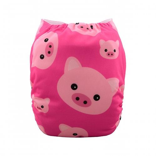 ALVA OS Pocket Diaper - Pink Pigs