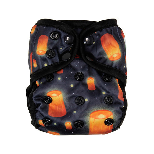 "Greener Odyssey NB Diaper Cover ""Floating Lights"""