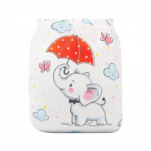 ALVA OS Pocket Diaper - Elephant Showers