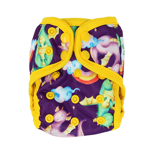 "Greener Odyssey NB Diaper Cover ""Dragon Dance"""