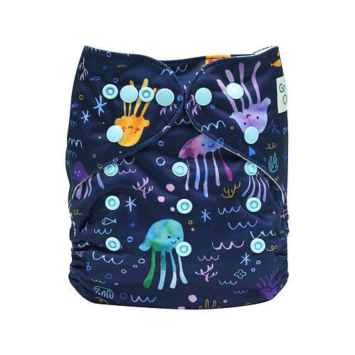 "Greener Odyssey OS Pocket Diaper ""Iridescent Jellyfish"""