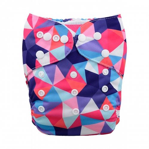 ALVA OS Pocket Diaper - Geometric Print