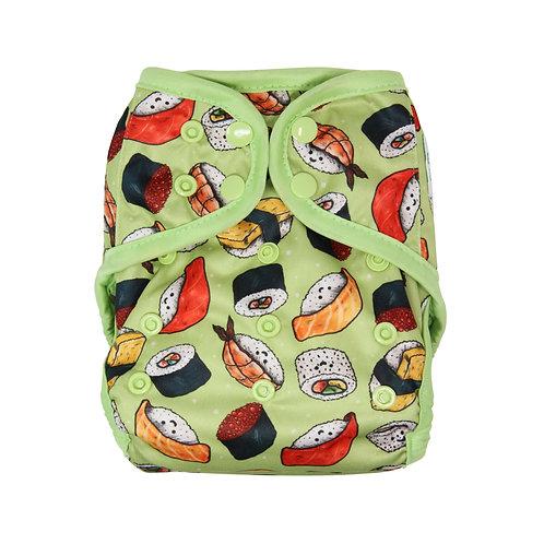"Greener Odyssey OS Diaper Cover ""Kawaii Sushi"""
