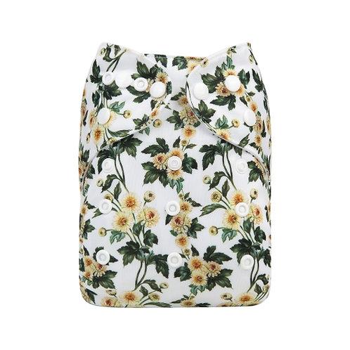 ALVA OS Pocket Diaper - Yellow Blooms