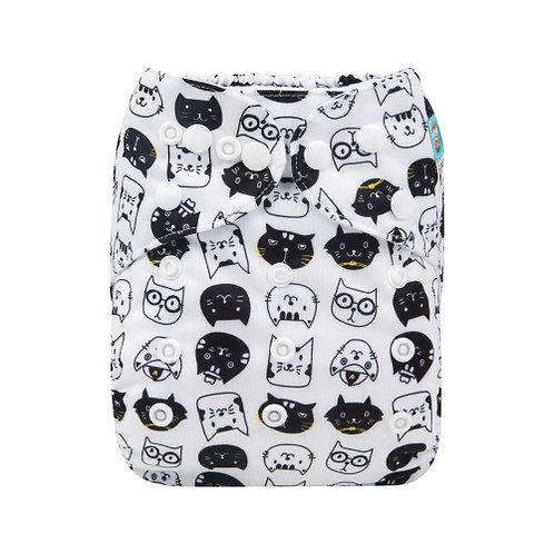 ALVA OS Pocket Diaper - Curious Cats