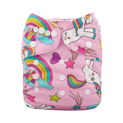 ALVA OS Pocket Diaper - Unicorns and Rainbows