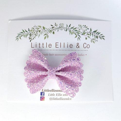 Glitter Bow - Pink